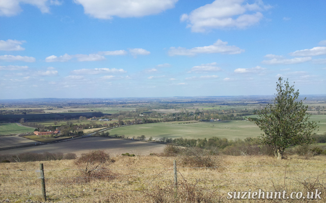 Stunning view of the chilterns countryside from Aston Rowant Nature Reserve