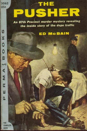 The Pusher by Ed McBain book cover